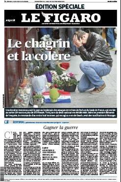 « Chagrin » et « colère » : les maux du figaro ce dimanche. (Crédit : lefigaro.fr)