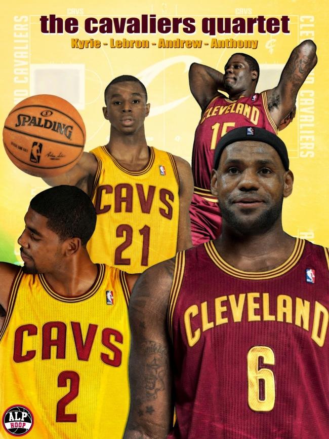 A l'ouverture de la saison 2014-2015, les Cleveland Cavaliers avaient dans leur rang 4 premiers choix de draft,: Kyrie Irving (#2), Lebron James (#6), Andrew Wiggins (#21) et Anthony Bennet (#15)