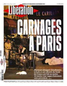 « Carnage à Paris » pour la rédaction de Libération. (Crédit : liberation.fr)