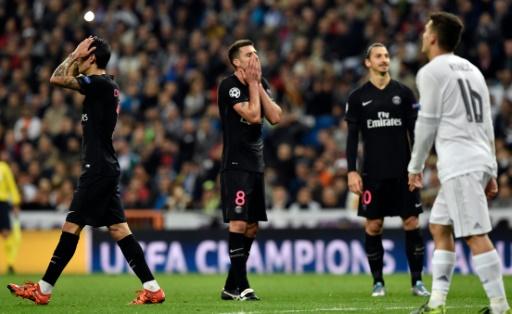 La frustration des Parisiens après leurs occasions manquées. Un manque de réalisme qui leur coûtera la défaite. (Crédit photo: AFP)