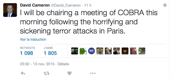 Tweet david Cameron