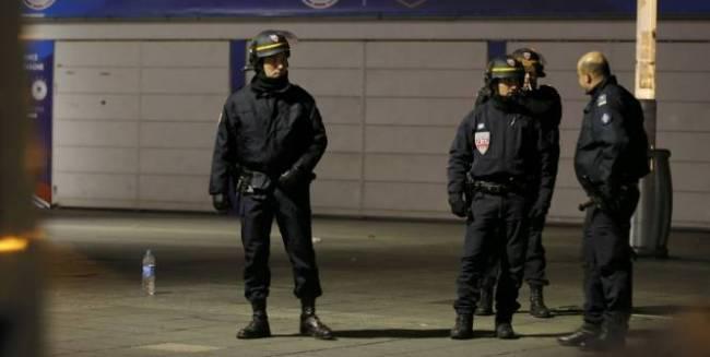 La sécurité était bien présente autour du stade. (Crédit photo : Reuters)