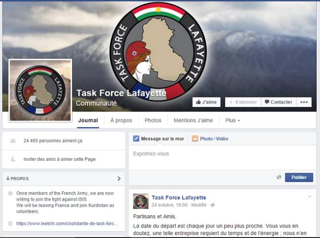 La Task Force Lafayette est très active sur sa page Facebook, seul endroit où elle est représentée. (Capture d'écran de la page Facebook de la Task Force Lafayette)