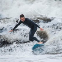 """La zone la plus creuse de la vague s'appelle """"le Curl"""". Crédit : Matthias Somm"""
