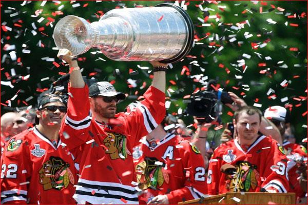 Les Blackhawks de Chicago ont gagné la Coupe Stanley la saison passée (Crédit : DR)
