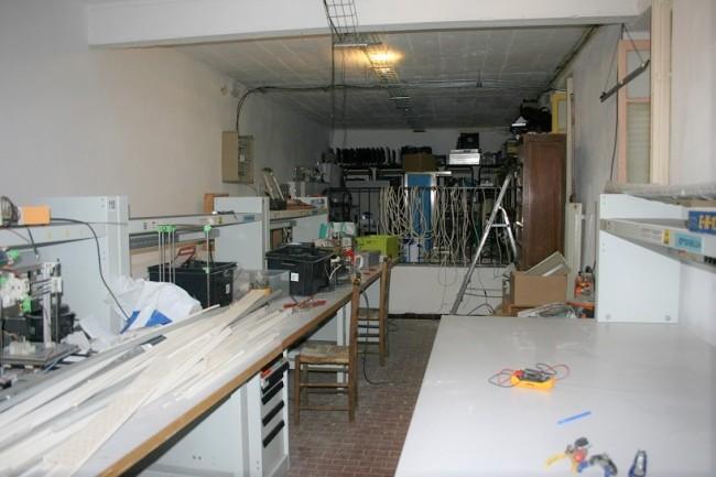 La pièce réservée au futur laboratoire. (Créditphoto : Guillaume Soudat)