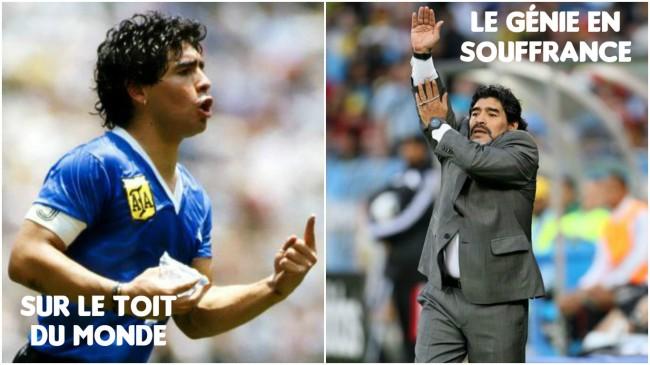 Maradona joueur entraineur