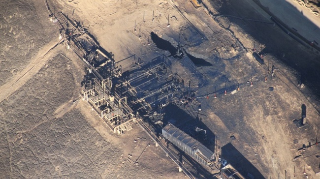 Le puits gazier, source de la fuite de méthane, ne sera pas réparé avant plusieurs mois (Crédit : Flickr / Earthworks)