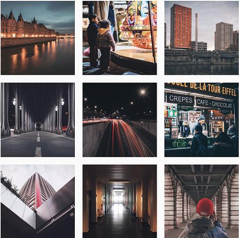 Il photographie souvent la nuit et utilise la pose longue pour obtenir des traînées de phares façon générique d'House of Cards. Crédit: Instagram d'@aliochaboi.