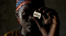 This is Ndadnouba Merci 14yrs old but had FGM performed on her when she was 13yrs old. In these images she holds a razor exactly the same as the one that wasto slice off her vaginal lips and clitoris .