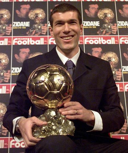 Zidane Ballon d'or twitter.com:90sfootball