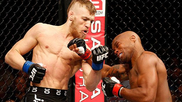 McGregor met k-o l'américain Marcus Brimage lors de son premier combat à l'UFC. (Crédit photo : Getty)