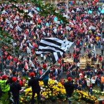 En Bretagne, de nombreux agriculteurs se sont réunis pour exprimer leur mécontentement. (Crédit : Twitter/@GTrescadec)