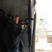 Camille Courcy à Alep en 2013. Crédit: Zakaria Al Kaffe