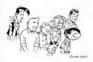 Un dessin de Yves Rodier pour Franquin et Compagnie. Crédit : Franquin et Cie