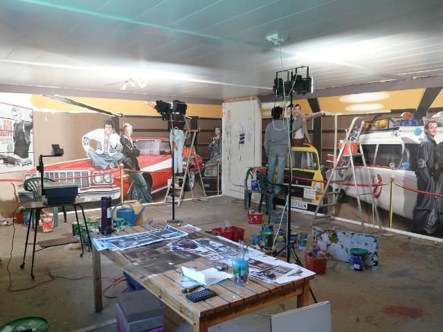Les fresques sont d'abord peintes sur des toiles en atelier. (Crédit Photo: Patrick Commecy)