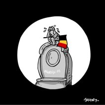 Le dessinateur de la chaine Public Sénat réagit après les attentats. Crédit : Hervé Baudry
