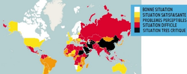 Le Royaume-Uni est 34ème sur 180 au classement RSF de la liberté de la presse. (Crédit : rsf.org)