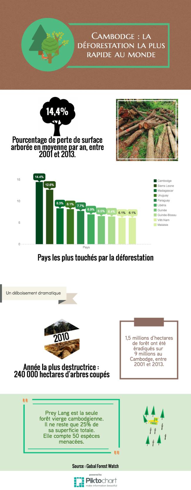 INFOGRAPHIE - Cambodge la déforestation la plus rapide du monde