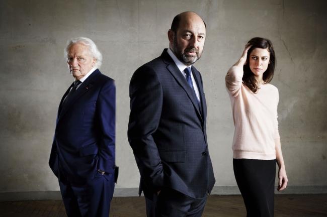 De gauche à droite, les comédiens Niels Arestrup, Kad Merad et Anna Mouglalis. (Crédit photo: télérama.fr)