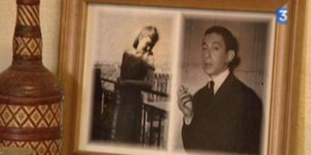 Photographie de Lise Levitzky et Serge Gainsbourg dans leur jeune âge. Crédit photo : Capture d'image France 3