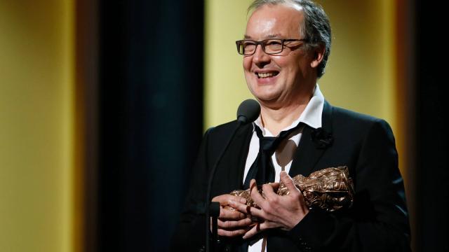 Philippe Faucon reçoit le César du Meilleur pour Fatima. Crédit photo: AFP