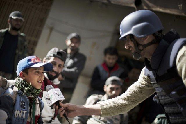 Les journalistes-citoyens sont au coeur des évènements en Syrie (crédit photo : Zac Baillie, AFP)
