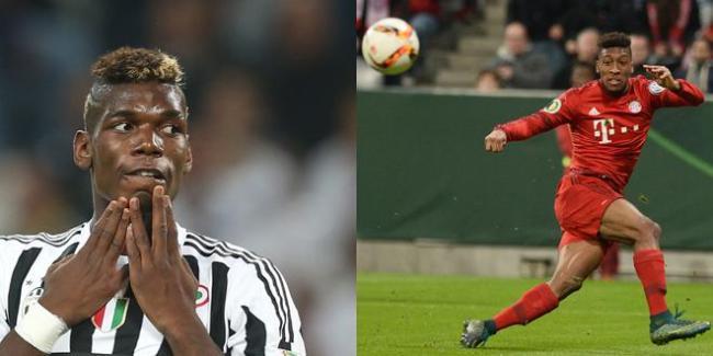 Paul Pogba et Kingsley Coman ont réalisé un match exceptionnel, à l'Allianz Arena. (crédit photo: francetvsport.fr)