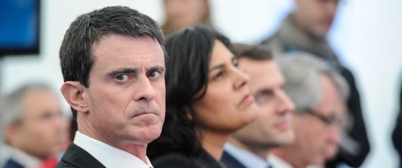 Le premier ministre Manuel Valls et sa ministre du travail Myriam El Khomri reculent pour la première fois sur l'avant projet de loi sur le travail. (Crédit photo: AFP) / AFP / SEBASTIEN BOZON