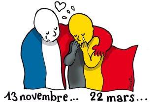 Le belge Plantu publie dans le Monde en réaction aux attentats du 22 mars. Crédit : Plantu