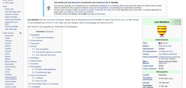 On peut trouver de tout sur Wikipédia, Sacha de la série d'animation Pokémon y est maire d'une ville de Vendée (Crédit photo : wikipédia)