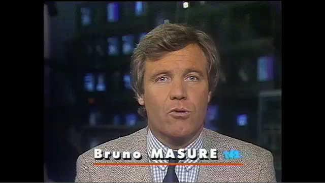 En 1989, Bruno Masure présente le journal de 20h sur TF1. (Crédit : TF1.fr)