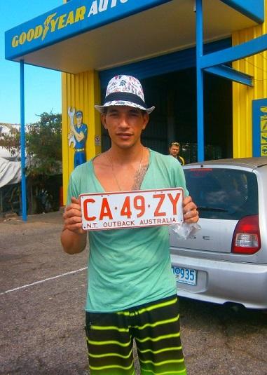 Rudy en road trip dans l'outback [arrière-pays ndlr] australien. Crédit photo : Rudy Salomon