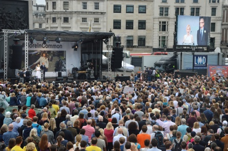 Rassemblement à Trafalgar Square