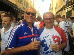 Allemands et Français chantaient ensemble la Marseillaise (Crédit : E.H.)