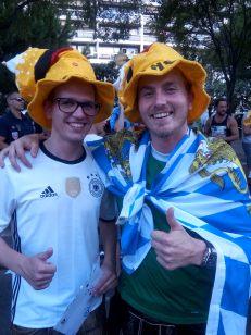 Des supporters allemands égarés dans la foule