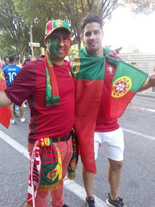 Les supporters portugais croient en la victoire de leur équipe