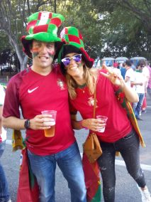 Les couples sont aussi au rendez-vous pour supporter l'équipe portugaise