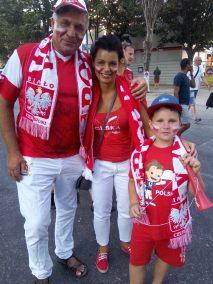 Les supporters polonais sont venus en famille