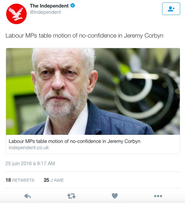 tweet Independant Corbyn