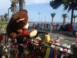 En face, la Promenade des Anglais. (crédit : Djenaba Diame)