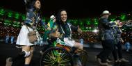Toutes les délégations ont défilé hier au stade Maracana. Ici, les sourires de l'équipe brésilienne. (crédit: AFP)
