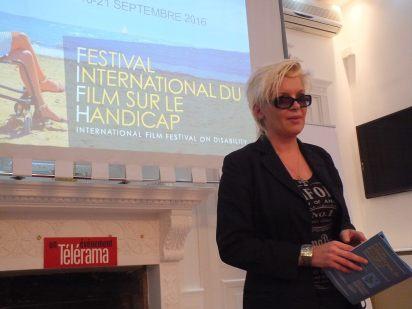 """Karolina Bomba, l'une des """"maîtresses de cérémonie"""" de ce premier festival. (Crédit photo : LLF)"""