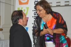 Jean-Yves Tual, président du festival et Marie-Hélène Delon, administratrice du FIFH, très complices pendant le festival. (Crédit photo : TW)