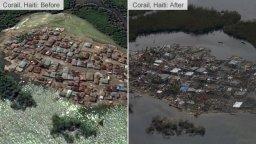 Corail avant et après l'ouragan (Crédit : Twitter/HBeaucejour).