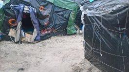 Ces quelques tentes de la « jungle » n'existent plus aujourd'hui (Crédit photo : John Brewer).