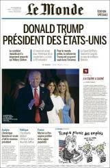 En France aussi, l'élection de Donald Trump à la tête des Etats-Unis a créé un tollé. Jeudi 10 novembre, Le Monde publie un numéro spécial.