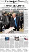 Dans le New York Times, on parle du triomphe de Donald Trump.