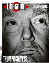 Libération, dans un numéro spécial, a opté pour le visage grave du nouveau président des Etats-Unis et un titre pour le moins surprenant, digne probablement de la surprise et de l'effarement de la rédaction.