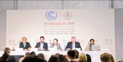 Après la France l'année dernière, c'est le Maroc qui a accueilli la COP22, du 7 au 18 novembre. Les 196 pays présents ont réaffirmé leur volonté de s'inscrire dans les engagements de l'accord de Paris. (Crédit : Twitter @clemetivier)